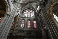 Lausanne kościół inside fotografia stock