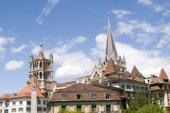 Lausanne, lac Genève, mai 2006 Images stock