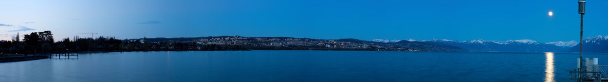 Lausanne at night (Switzerland) Stock Photo