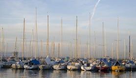 lausanne port Royaltyfri Fotografi