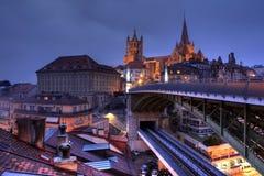 Lausanne-Skyline 02, die Schweiz Lizenzfreie Stockfotos