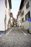Lausanne street. The street at Lausanne, Switzerland royalty free stock photo