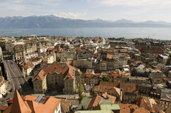 Lausanne in Switzerland Royalty Free Stock Photo