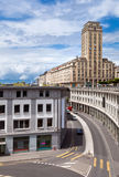 Lausanne, Switzerland. High-rise building in old town of Lausanne, Switzerland royalty free stock image