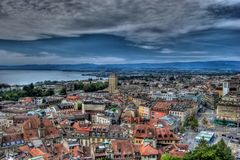 Lausanne, Switzerland, HDR Royalty Free Stock Photos