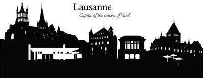 Lausanne, Szwajcaria Royalty Ilustracja