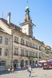 Lausanne Town Hall (Hotel de Ville) in summerime Royalty Free Stock Images