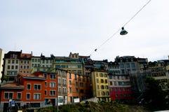 Lausanne van de binnenstad Royalty-vrije Stock Foto's