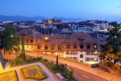 Lausanne, Zwitserland Stock Foto