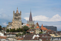 Laussane. The historic center of Laussane, in Switzerland Stock Photo