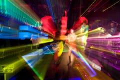 Laut summende bunte Lichteffekte Stockfotografie