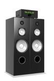 Laute Musik vom großen Audiosystem Lizenzfreie Stockfotos