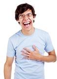 Lauten Kerl heraus lachen Lizenzfreies Stockfoto