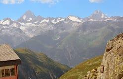 芬斯特瓦山和Lauteraarhorn 免版税库存照片