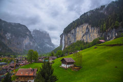 Lauterbrunen - Schweiz Arkivfoton