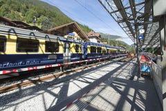Lauterbrunnen-Bahnstation, die Schweiz stockbild
