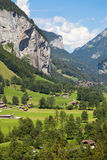 Lauterbrunnen Cliffs Stock Photos