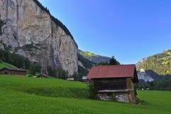 lauterbrunnen dalen Royaltyfri Bild