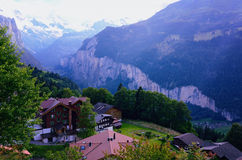 Lauterbrunnen dolina Szwajcaria, Jungfrauregion (,) obrazy royalty free
