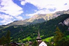 Lauterbrunnen (Jungfrau-Gebied, Zwitserland) Stock Fotografie