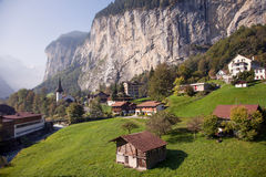 Lauterbrunnen, near Interlaken in the Bernese Oberland, Switzerland Royalty Free Stock Photo