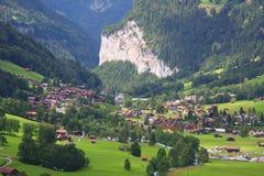 Lauterbrunnen in Svizzera Immagini Stock Libere da Diritti