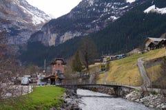 Lauterbrunnen in Svizzera Immagini Stock