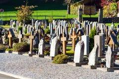Lauterbrunnen, Svizzera - 17 ottobre 2017: Monum tradizionale Fotografie Stock Libere da Diritti