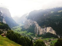 Lauterbrunnen. Switzerland is an europe country. Switzerland is geographically divided between the Alps, the Swiss Plateau and the Jura, This photo is from Alps Stock Photo