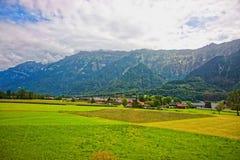 Lauterbrunnen-Tal und Bezirk Interlakens Oberhasli von Bern-Bezirk die Schweiz Lizenzfreie Stockfotografie