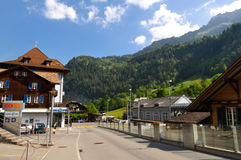 Lauterbrunnen town in the beautiful valley of Swiss Alps Royalty Free Stock Photos
