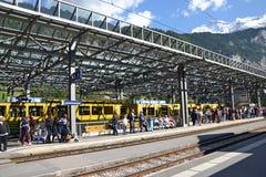 Lauterbrunnen Train Station Royalty Free Stock Photo
