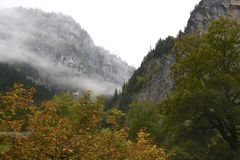 Lauterbrunnen Valley in Autumn Royalty Free Stock Photo