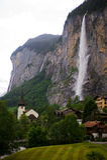 lauterbrunnen vattenfallet Arkivbild
