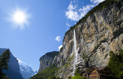 Lauterbrunnen Waterfall Royalty Free Stock Images