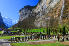 Lauterbrunnenvallei, Zwitserland, Europa Stock Afbeelding