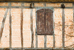Lautrec. Medieval window in the village of Lautrec, France Royalty Free Stock Images