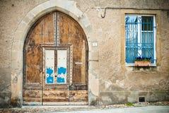 Lautrec. Medieval door in the village of Lautrec, France Stock Image