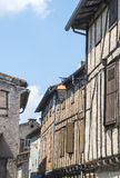 Lautrec (France), old village. Lautrec (Tarn, Midi-Pyrenees, France), medieval village with half-timbered buildings Stock Images