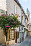 Lautrec (France), old village. Lautrec (Tarn, Midi-Pyrenees, France), medieval village with half-timbered buildings Royalty Free Stock Photography