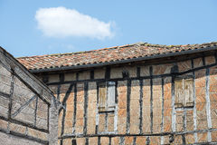 Lautrec (France), old village. Lautrec (Tarn, Midi-Pyrenees, France), medieval village with half-timbered buildings Stock Photo
