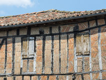 Lautrec (France), old village. Lautrec (Tarn, Midi-Pyrenees, France), medieval village with half-timbered buildings Royalty Free Stock Photo