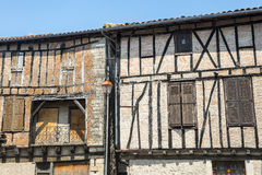 Lautrec (France), old village. Lautrec (Tarn, Midi-Pyrenees, France), medieval village with half-timbered buildings Royalty Free Stock Image