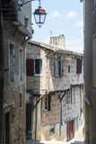 Lautrec (France), old village. Lautrec (Tarn, Midi-Pyrenees, France), medieval village with half-timbered buildings Royalty Free Stock Images