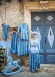 Lautrec (France), old village. Lautrec (Tarn, Midi-Pyrenees, France), medieval village with half-timbered buildings: typical shop Stock Images
