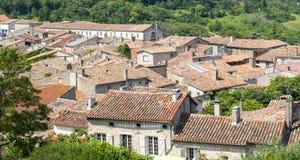 Lautrec (France), old village. Lautrec (Tarn, Midi-Pyrenees, France), medieval village: panoramic view Royalty Free Stock Photos