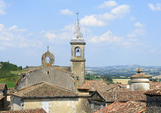 Lautrec (France), old village. Lautrec (Tarn, Midi-Pyrenees, France), medieval village: panoramic view Stock Photography