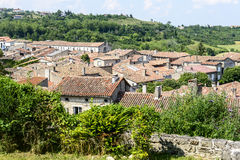 Lautrec (France), old village. Lautrec (Tarn, Midi-Pyrenees, France), medieval village: panoramic view Stock Images
