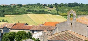 Lautrec (France), old village. Lautrec (Tarn, Midi-Pyrenees, France), medieval village: panoramic view Royalty Free Stock Photo