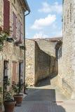 Lautrec (France), old village. Lautrec (Tarn, Midi-Pyrenees, France), medieval village: a street Stock Photo